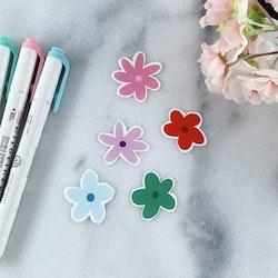 Klistermärken Blommor