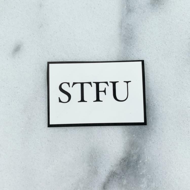 STFU klistermärke