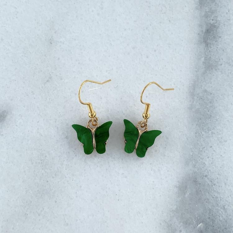 Örhängen Gröna Fjärilar