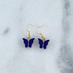 Blåa Fjärilar Örhängen