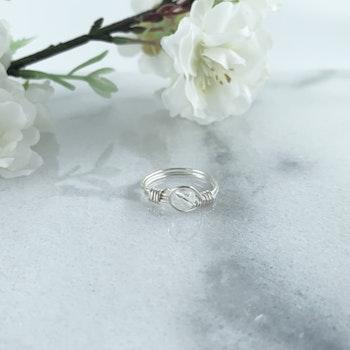 Bergkristall Ring Handgjord