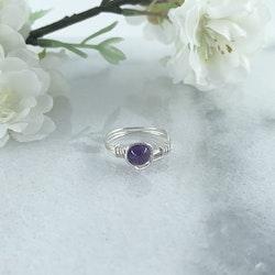 Ametist Ring Handgjord