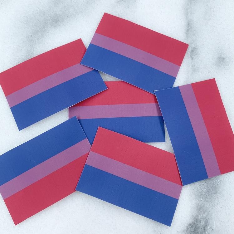 Bi Flagga klistermärke 10-pack
