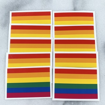 10-pack klistermärken pride