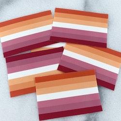 10-pack flagga lesbisk klistermärken
