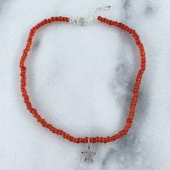 Halsband Röd