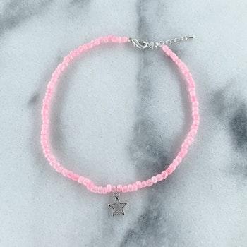 Rosa Halsband Stjärna