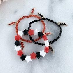 Armband Svart/Vit/Röd