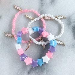 Armband Lila/Rosa/Blå