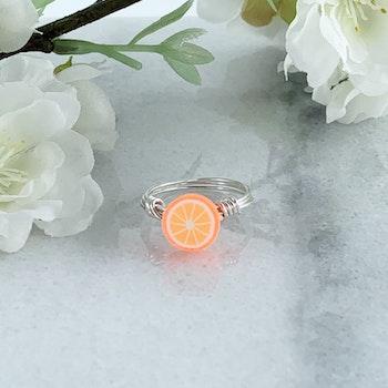 Handgjord Ring Apelsin