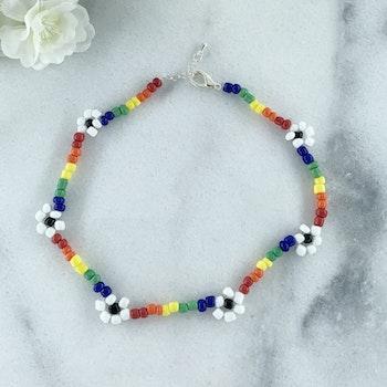 Handgjord Halsband Regnbåge