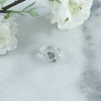 Regnbågsfluorit Handgjord Ring
