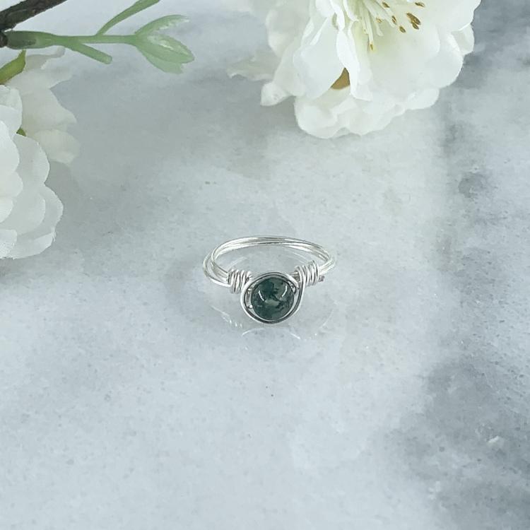 Mossagat Handgjord Ring
