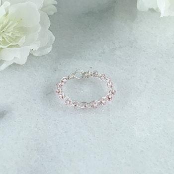 Handgjord Rosa Ring