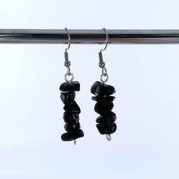 Obsidian Chip Örhängen