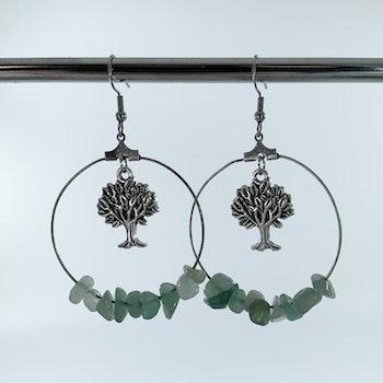 Handgjorda kristall-örhängen träd