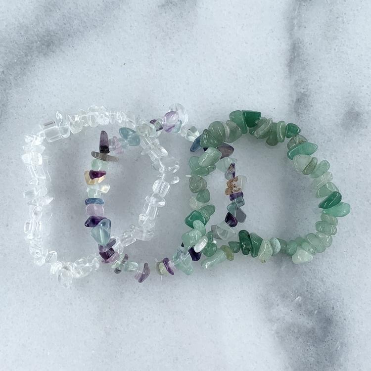 Kristall-armband Set Grön