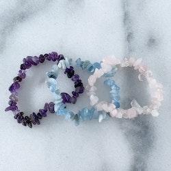 Kristall-armband Kit Rosa/Blå