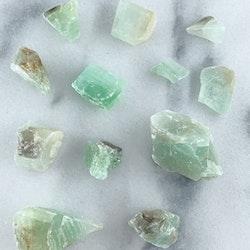Grön Kalcit Rå