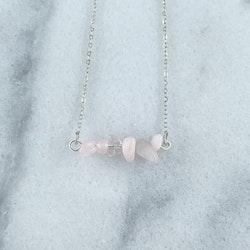 Halsband Kristall Silver