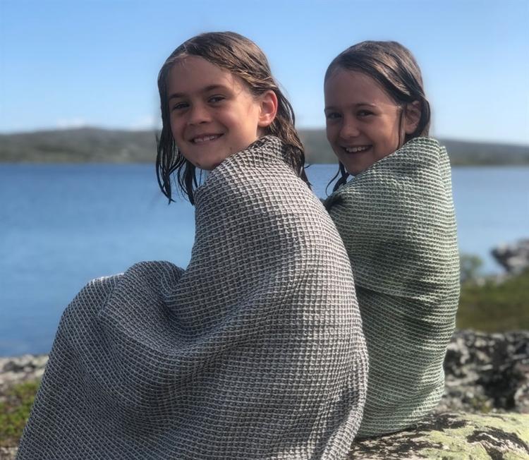 Badhandduk från Växbo Lin, Gjord i Sverige, lyx