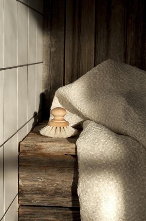 Badhandduk från Växbo Lin,  naturliga färger