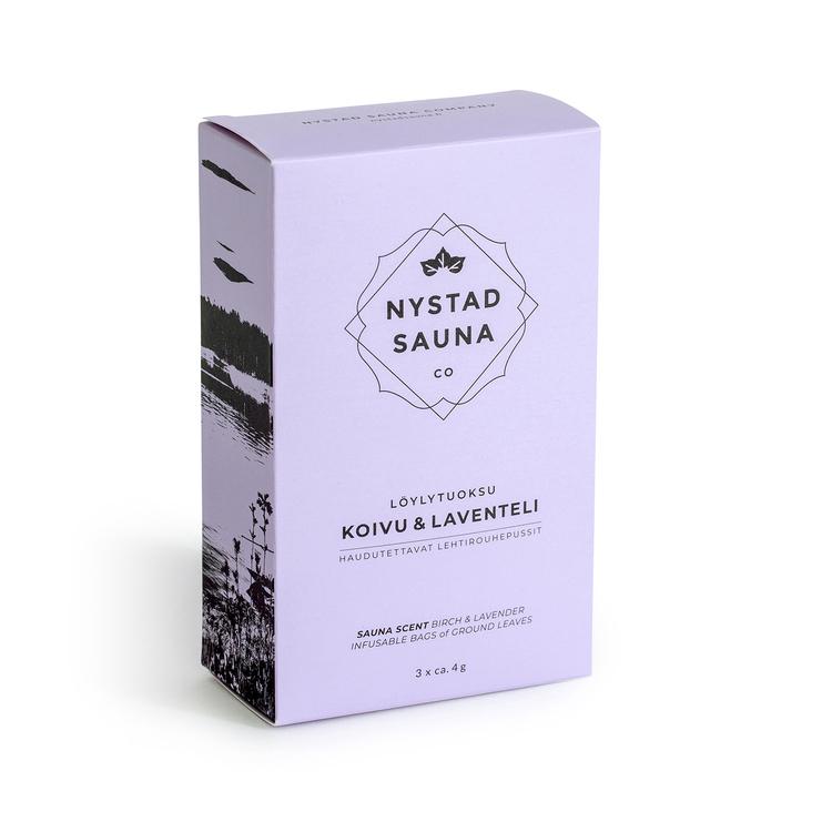 Bastu Doft från Nystad Sauna box 3x4g påse, lyx present, wellness