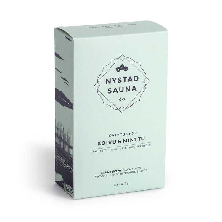 Bastu Doft från Nystad Sauna box 3x4g påse, spa,  handgjorda i Finland