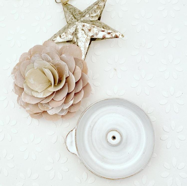 Keramik Rökelse Hållare, naturlig, blank vit rökelsehållare