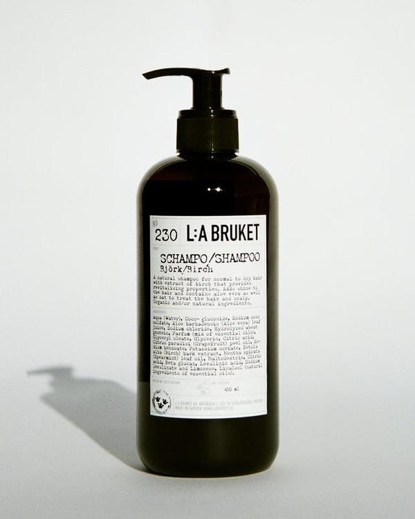 L:A Bruket Shampoo, citrongräs och björk,  återupplivande schampo