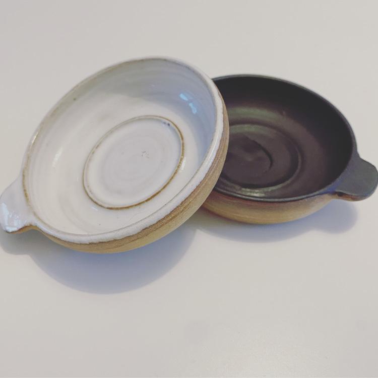 Keramik Värmeljus och Lös Rökelse Hållare, Handgjord, Svensk