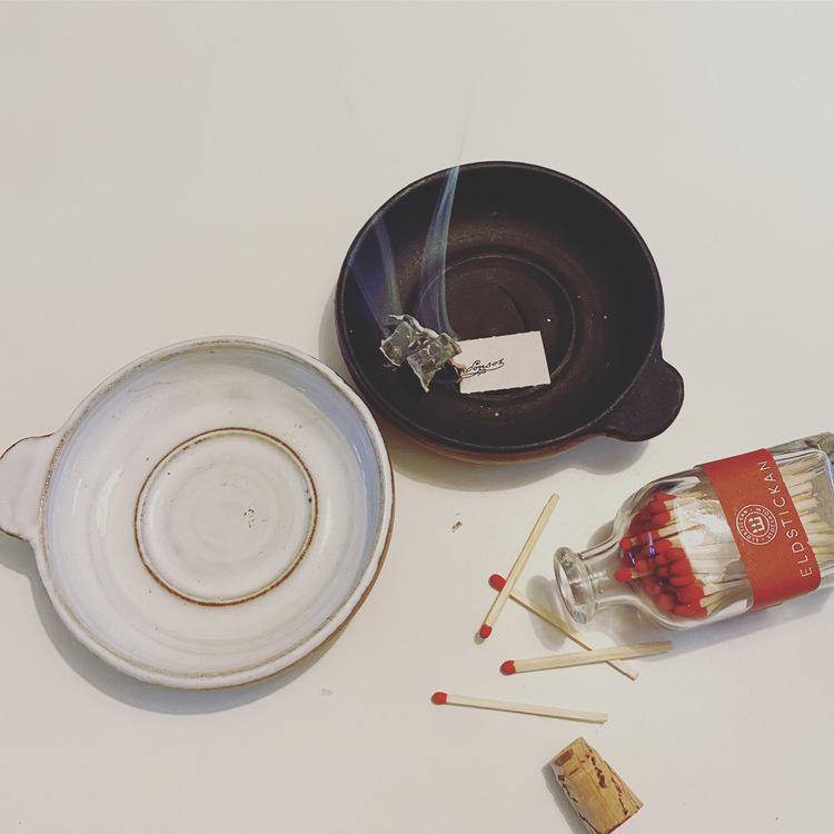 Keramik Värmeljus och Lös Rökelse Hållare,  lera, wellness present