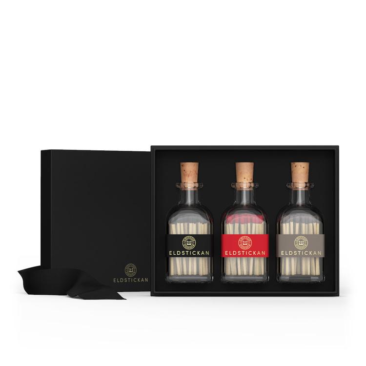 3-Pack Eldstickan Tändstickor i Presentförpackning, spa present