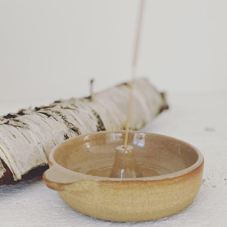Keramik Rökelse Hållare, ekologisk, wellness present