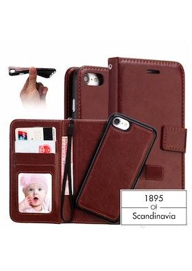 Magnetic wallet brown