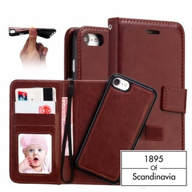 Magnetic wallet brown