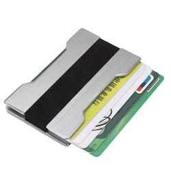 Slim card holder silver
