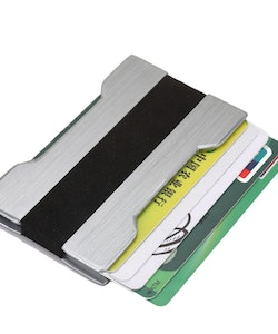 Slim card holder silver
