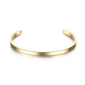 Gold steel bracelet