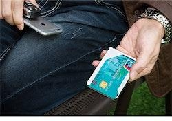 Modern card holder silver