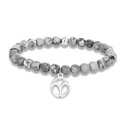 Zodiac bracelet grey