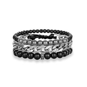 3 bracelet silver
