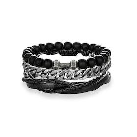 3 Armband svart