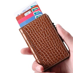 Card holder Brown pattern