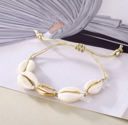 Armband snäcka Guld