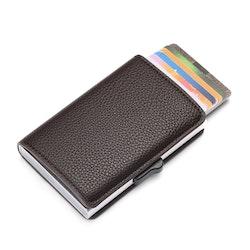 Card holder leather Dark brown