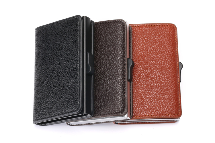 Card holder Leather brown