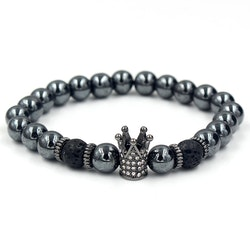 Metallic crown black
