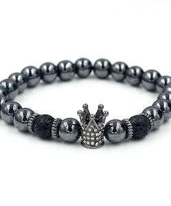 Metallic crown black