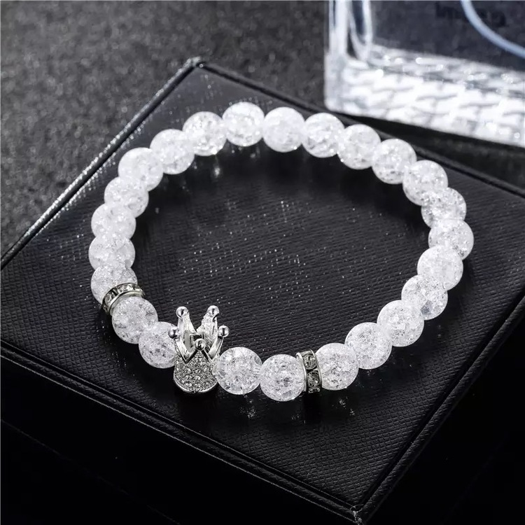 Crystal crown silver